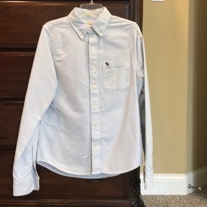 NWOT Men's Abercrombie & Fitch Striped Dress Shirt